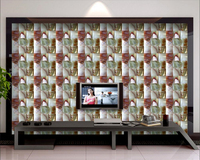 Wallpaper Papel De Parede Marble Living Room Tv Wall Tiles Mosaic Photo Wallpaper Mural Bedroom Living