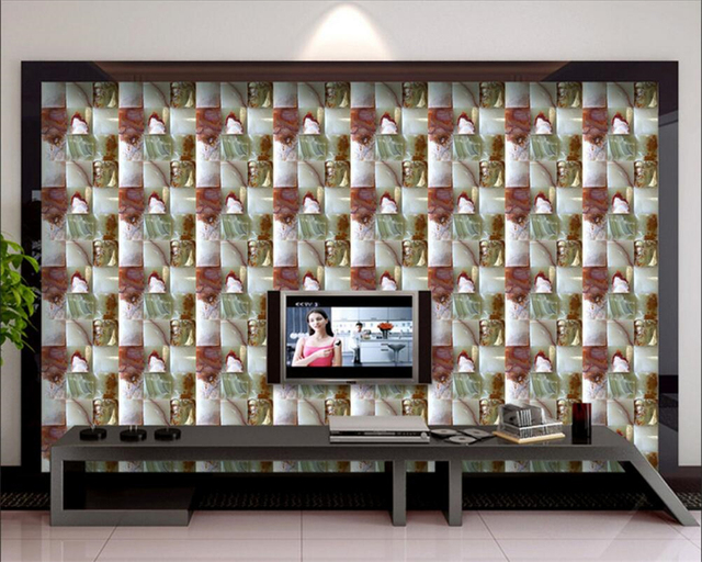 Beibehang d marmo carta da parati della parete del salone tv