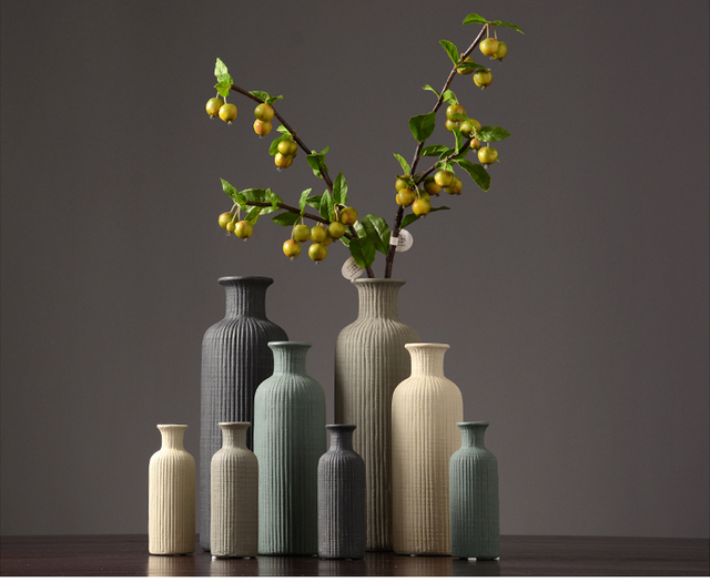 Ceramic Striped Vase