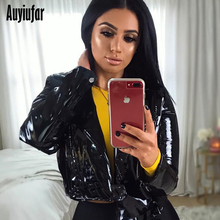 Auyiufar Autumn Women Faux PU Leather Jackets Coat Solid Open Stitch Casual Female Clothing Streetwear Outerwear Coats 2019 New