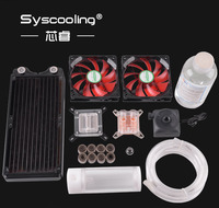 Syscooling New Design Flexible Tube Cooling Kits No.6 Intel CPU Copper Radiator hot sale!!!!!