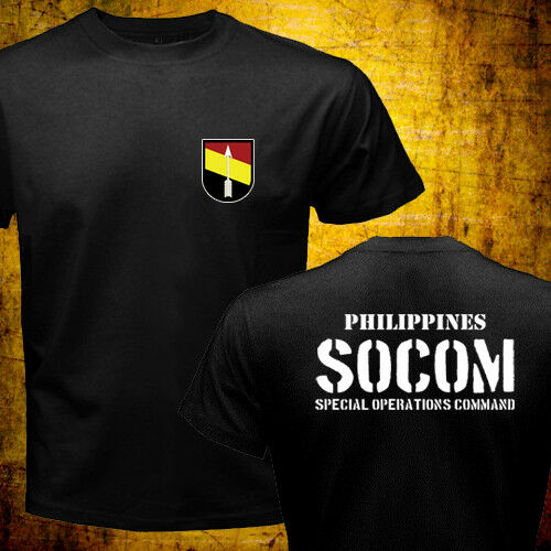 2019 Fashion Double Side New Philippines Army Special Operations Command Socom Military Forces T-Shirt Unisex Tee
