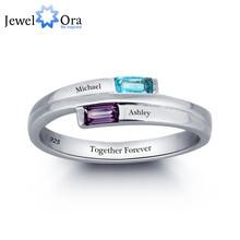 Silver Engagement Birthstone 925