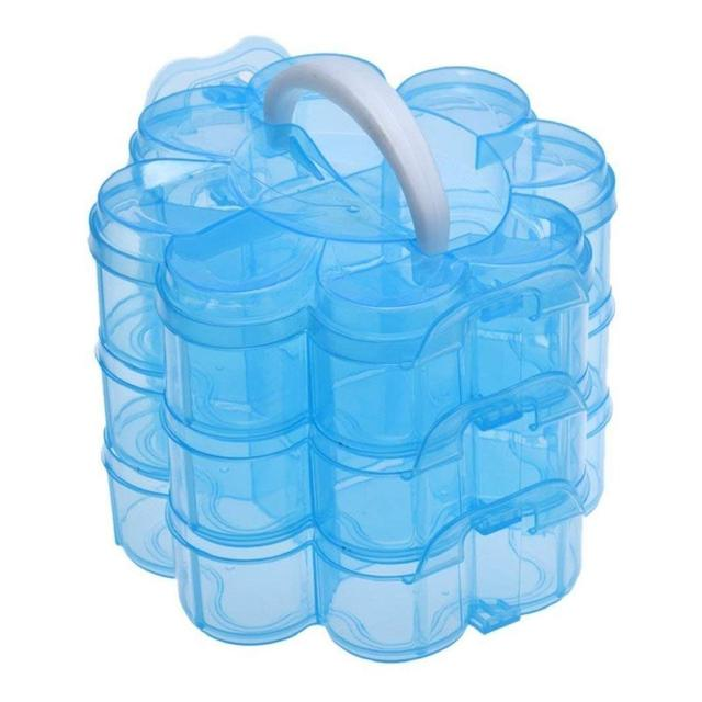 Hot 3 Tier Clear Plastic Stackable Organiser Storage Hobby Craft Box