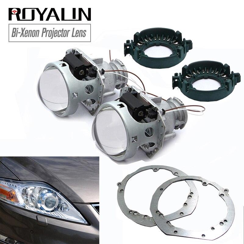 ROYALIN Pour Ford Mondeo MK IV 4 Lifting Hella 3R G5 Bixenon phare de projecteur Lentille w/Cadre support adaptateur De Voiture Rénovation