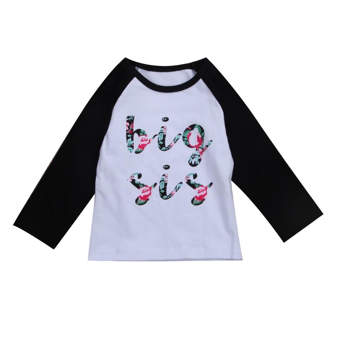 111273094a2de Baby Girl Romper Bodysuit Outfit Kid Top T-shirt Little Big Sister ...