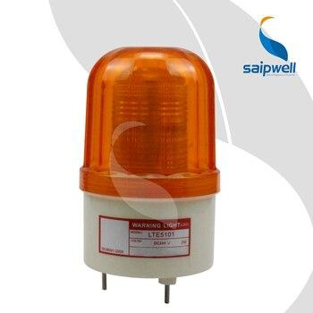 2 ワットネジ固定 LED ストロボ信号光/工業用 ABS ライト警告灯 100 ミリメートル径。 (LTE-5101)
