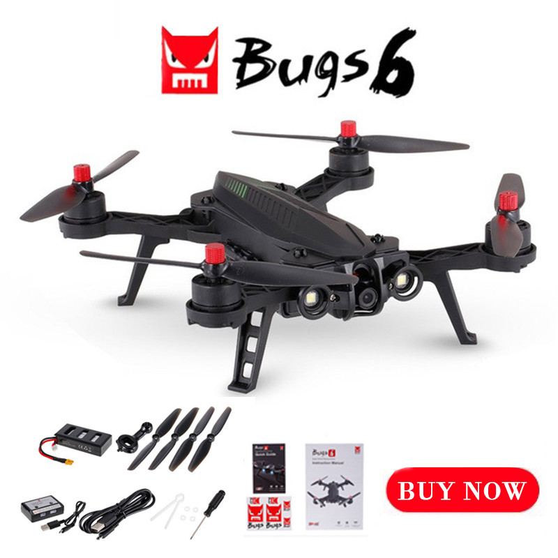 MJX Bugs 6 RC Helicopter High Speed Brushless Motor RC Drone Camera 720P FPV Real-Time Image Transmission B6 5.8G Quadcopter image