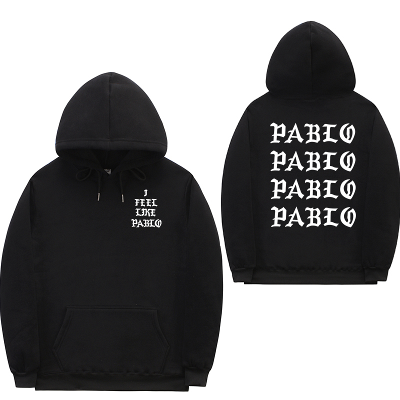 I Feel Like Paul Pablo Kanye West sweat homme hoodies hombres Sudadera con capucha Hip Hop Streetwear Hoody pablo hoodie