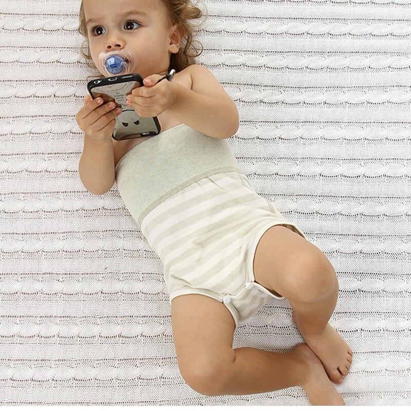 Organic Colored Cotton Baby Underwear Baby Shorts Baby Underwear High Waist Protection Belly