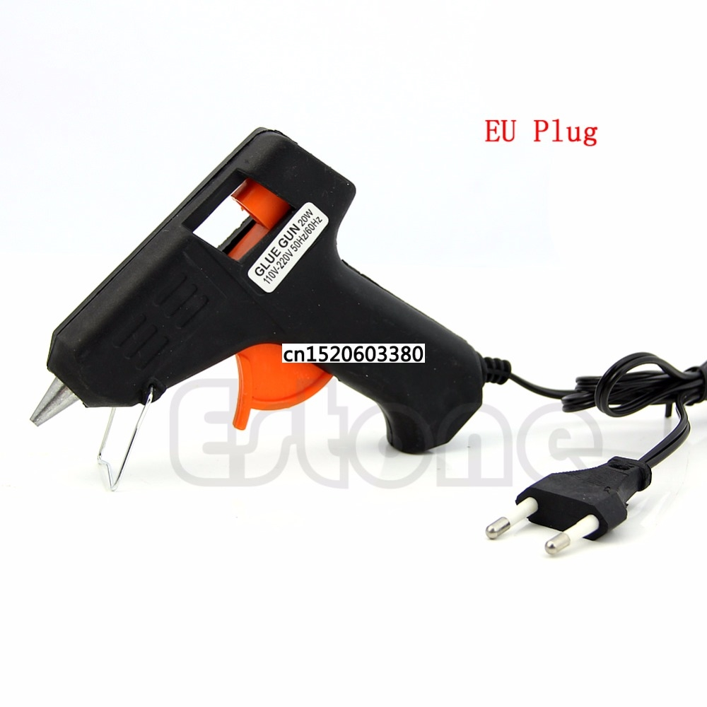 Free_on New Portable Art Craft Repair Tool 20W Electric Heating Melt Glue Gun Sticks Trigger