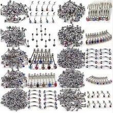 100 шт/лот 10 стилей 316l из нержавеющей стали с кристаллами