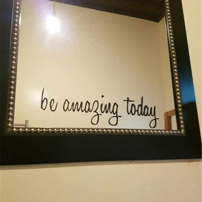 Quotes Be Amazing Today Wall Sticker PVC Art English Words
