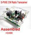 Montado S-PIXIE QRP CW Jamón Amateur Transceptor de Radio de Onda Corta 7.023 Mhz + Caso