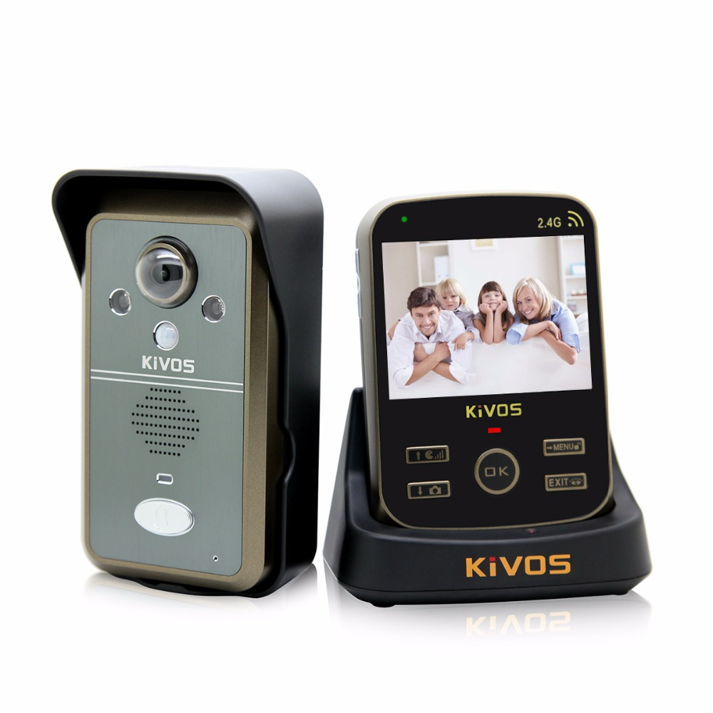 imágenes para KiVOS 3.5 inch Impermeable Video Portero Puerta de Intercomunicación Timbre de La Cámara de Vídeo Inalámbrico Teléfono de La Puerta para el Apartamento Casa F1719A