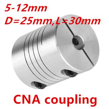 3 sztuk 5mm x 12mm sprzęgło wału D25 L30 silnik krokowy sprzęgło wału elastyczne sprzęgło 5x12mm silnika złącze 5*12mm tanie i dobre opinie RDBB Standardowy Aluminium Flexible flexible coupling