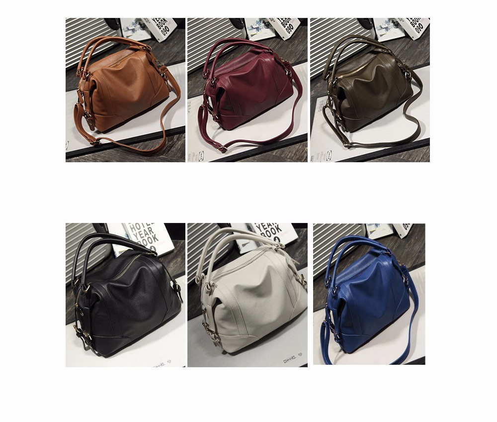 Women Fashion Soft PU Leather Handbag Lichi Pattern Female High Quality Casual Shoulder Bag Classic Solid Tote Dollar Price TTOU (1)