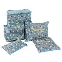 LASPERAL 6PCs Set Waterproof Storage Bags Drawstring Travel Shoes Laundry Lingerie Makeup Pouch Storage Containers 10