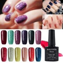 BOLUOYIN UV Gel Polish Lucky Primer Hybrid Varnishes Tops Gellak Lacquer Enamel 8ml Neon Bling Glitter Nail Manicure