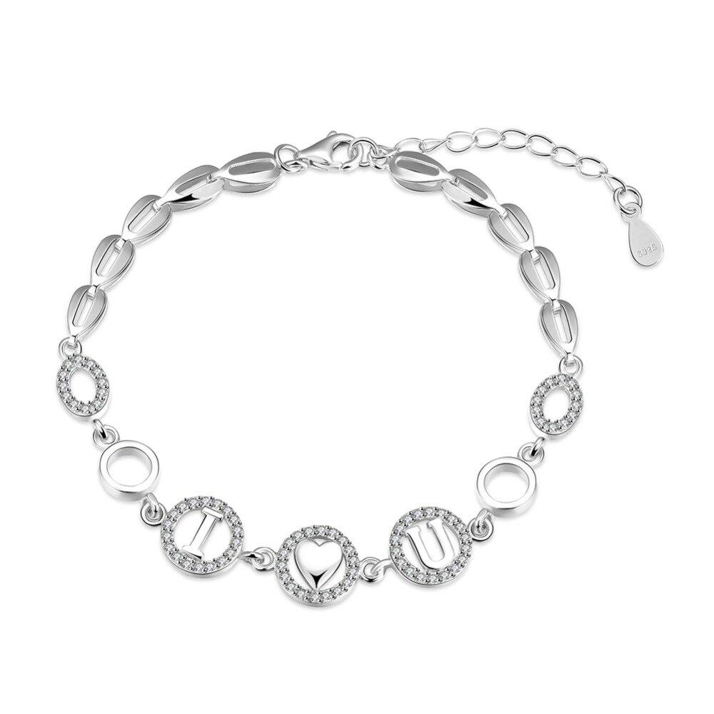 Bracelets Femme 100% 925 Sterling Silver Bracelets for Women High Quality Sterling Silver Jewelry Charm Bracelet & Bangles