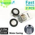 2 PCS dispositivo de poupança de água torneira arejador 24mm rosca macho da torneira frete grátis atacado bem-vindo