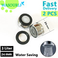 2 PCS water saving faucet aerator 24mm male thread tap device free shipping welcome wholesale