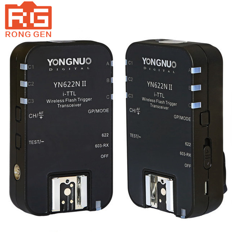 Yongnuo New Upgraded YN-622NII YN622NII Wireless TTL Flash Trigger 2 Transceivers HSS 1/8000s For Nikon Cameras with tracking no yn e3 rt ttl radio trigger speedlite transmitter as st e3 rt for canon 600ex rt new arrival
