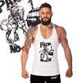 Hombre 2015 Бодибилдинг Синглетный Стрингер жилеты Прибытие Фитнес Мышечная Мужчины Топы Спортивной Тренировки Хлопок Жилет