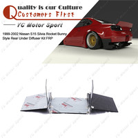 Car Accessories FRP Fiber Glass Bodykit Fit For 1999 2002 S15 Silvia Rocket Bunny Style Rear Bumper Under Diffuser Kit