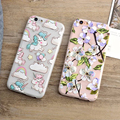 Cases for Iphone 6 6s 6 Plus 6s Plus Cartoon Unicorn Design Flowers Soft TPU Matte Phone Back Covers for Iphone 6