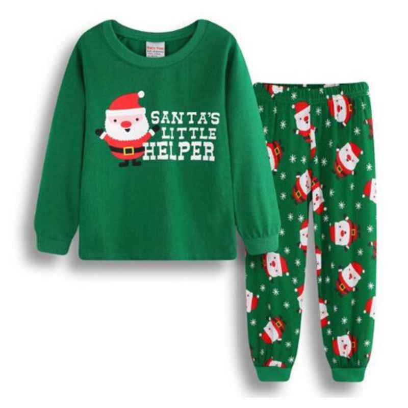 5c69c89665 ... New Arrival winter christmas Santa claus Snowman pajamas set kids 2-7  yrs boys girls ...