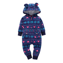 2019 Winter Baby Romper Warm Jumpsuit Infant Baby Boy Girl Pajamas Toddler Clothing Kids Clothes Baby Soft Coveralls gemtot infant baby clothing romper toddler warm crawling clothes baby autumn and winter to go out wearing