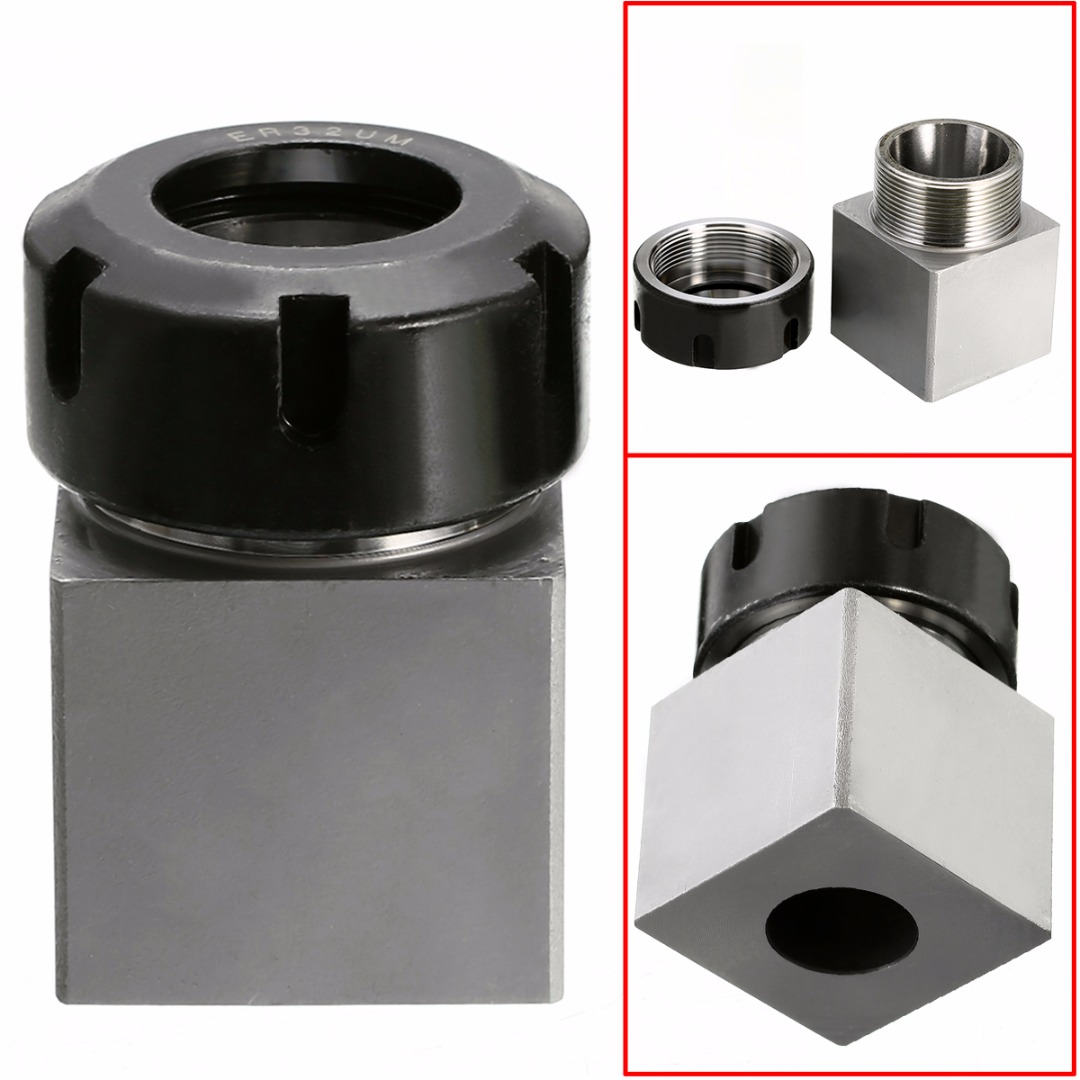 Hard Steel ER-32 Square Collet Chuck Block Holder 3900-5124 45x65mm For CNC Lathe Engraving Machine 1pc er 32 square collet chuck block holder 3900 5124 hard steel 45x65mm for cnc lathe engraving machine