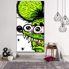 Canvas HD Prints Picture Decor Framework For Kids Room Home 3 Pieces Comic Humor Rat Fink Painting Wall Art Modular Poster
