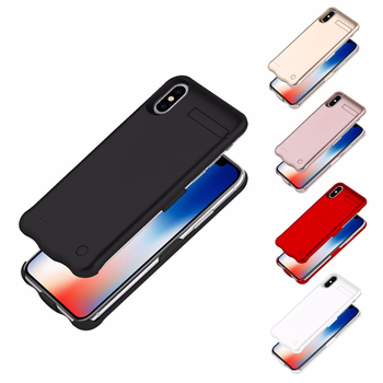 Ultra Thin Portable 5200mAh Battery Charging Case For iPhone X Power Bank Phone Case External Battery Charger Case for iPhone 10