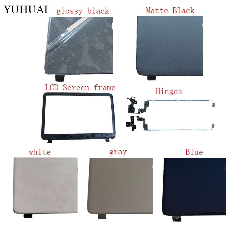 Ordinateur portable Top LCD de Couverture Arrière/LCD avant Lunette/Charnières pour HP 15-G207NL 15-g209nl 15-g210nl 15-g070nr 15-G501NR