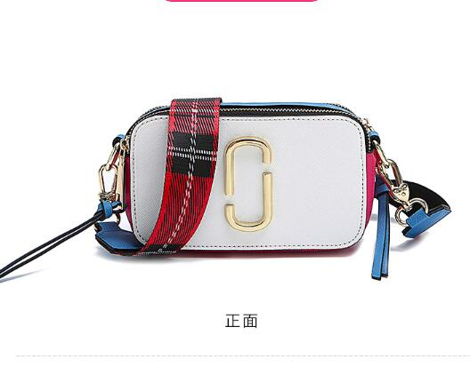 DuoLaiMi 2019 New Arrival Fashion Wide Strap Sequined Double Zipper Tassel Lattice Women Camera Ribbon Shoulder Handbag Bag Flap in Shoulder Bags from Luggage Bags