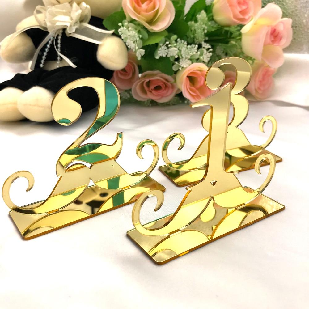 Verantwoordelijk Tafel Nummer Borden Voor Bruiloft Party Decor Zilver Goud Acryl Tafel Nummers Geometrische Boho Middelpunt Bruiloft Decaration Kortingen Prijs