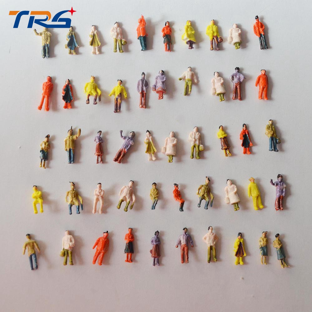 Teraysun  WHOLESALE Mixed Painted Model Trains People Passengers Figures Scale 1:150 Make The Model  Train Layout