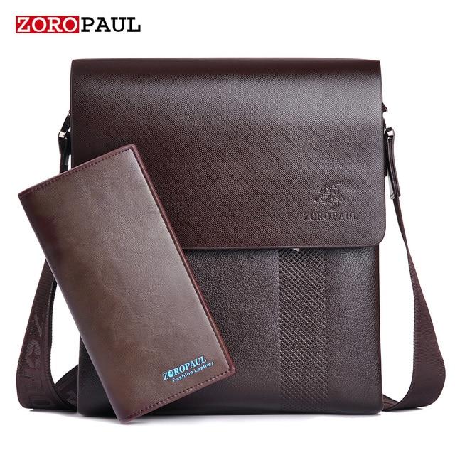 ZOROPAUL New Arrival Fashion Business Leather Men Messenger Bags Promotional Small Crossbody Vintage Shoulder Bag Casual Man Bag
