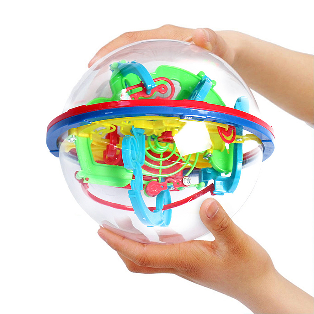 3D puzzle Ball Magic Intellect Ball Labyrinth Sphere Globe Toys Challenging Barriers Game Brain Tester Balance Training toy gift