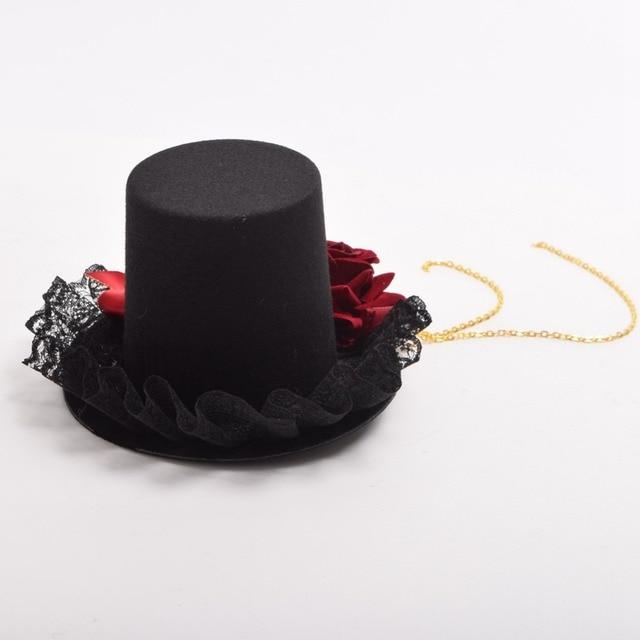 Шляпка готическая лолита 4