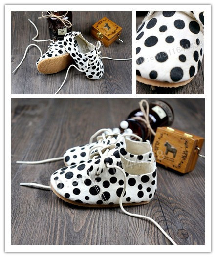 2015 new 10 wholesale dot Leopard Genuine Leather toddler handmade Soft bottom First Walker newborn Non-slip  Baby Moccasins