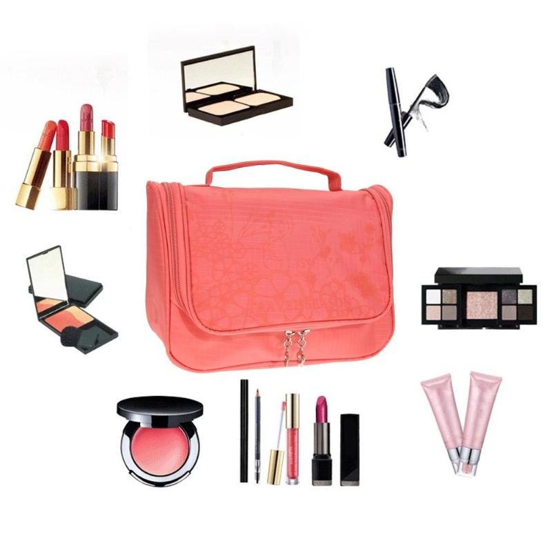 New Travel Organizer Toiletry Makeup Hanging Bag(Watermelon Red)