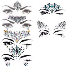 Face Jewels Glitter Mermaid Eyes Tears Gems Stones Jewelry Stickers Crystal  For Festival Party Women Temporary Tattoo Body Acryl 1fa7adf130d2