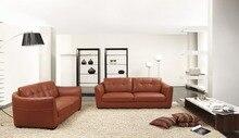 Vaca genuino / real sofás de cuero salón sofá seccional / sofá de la esquina de muebles para el hogar sofá moderno 2 + 3 plazas
