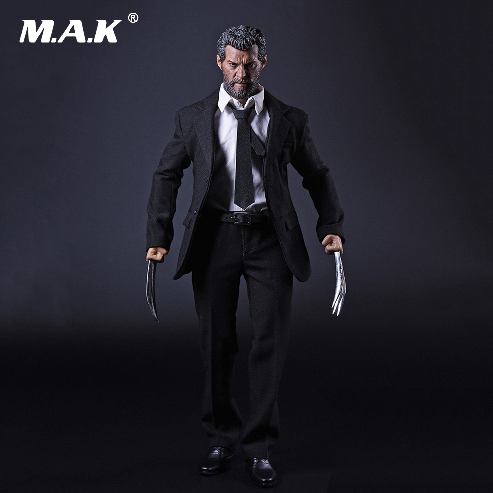 X man Wolverine Logan 1 6 Scale Business Suit Clothes Set Claws for 12 Inches Action