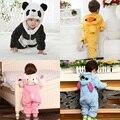 Littlespring bebé fleece animal ropa de los mamelucos y los mamelucos uno-pedazos del bebé del bebé de la navidad ropa bebé recién nacido
