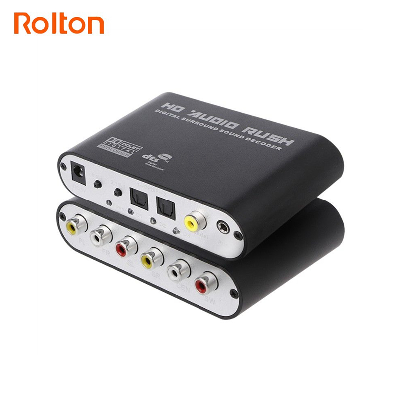 Digital to Analog 5.1 Stereo DTS AC3 Audio Sound Decoder Amplifier Optical SPDIF Coaxial AUX 3.5mm to 6 RCA Adapter Converter doitop dolby dts ac 3 optical to 5 1 channel rca analog converter stereo dac digital 5 1 audio gear decoder sound spdif decoder