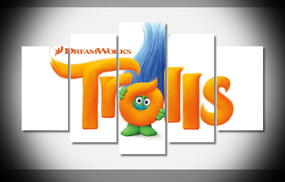 9172 trolls animated movie Poster Framed Gallery wrap art print home wall decor wall picture